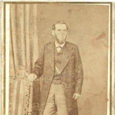 Fotografía antigua: CARTA DE VISITA/CARTE DE VISITE. FOT. NAPOLEON. CA. 1870/1890. BARCELONA. SEÑOR. Lote 31781051
