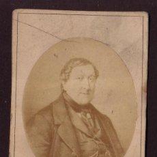 Fotografía antigua: CA. 1860 COMPOSITOR ROSSINI GIOACHINO 1792 - 1868 * EL BARBERO DE SEVILLA , GUILLERMO TELL ETC . Lote 32003678