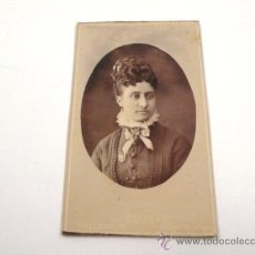 Fotografía antigua: RETRATO CDV DE DAMA, FOTO: ADOLFO M. EGUREN, VALLADOLID.. Lote 32029985