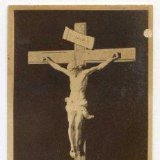 Fotografía antigua: CRISTO DE MIGUEL ANGEL, CDV DE RAFAEL ROCAFULL, CÁDIZ. CIRCA 1870. Lote 32082919
