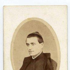 Fotografía antigua: REVERENDO PADRE JOSÉ SALA. 1868. FOT. DE JOAQUIN MASAGUER. GERONA. GIRONA. Lote 32183594