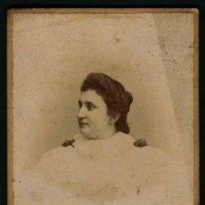 Photographie ancienne: SEÑORA GALLEGA. F: J. SELLIER. A CORUÑA. C. 1895. Lote 32786475