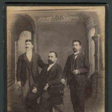 Fotografía antigua: TRES JÓVENES CABALLEROS ESPAÑOLES EN LA HABANA. OTERO Y COLOMINAS. CUBA. C. 1890. Lote 32791944