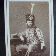 Fotografía antigua: MILITAR DE CABALLERIA : CDV DE UN HUSAR MUY CONDECORADO DEL SIGLO XIX . 1840 .. Lote 33039863