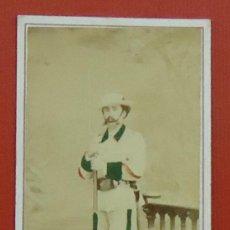 Fotografía antigua: GUERRA DE CUBA . CABO DE MILICIAS VOLUNTARIAS . 1869 . CDV DE O´REILLY , HABANA .. Lote 33291869