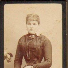 Fotografía antigua: 378. CARTA DE VISITA/CARTE DE VISITE. FOT. NAPOLEON CA.1870/1890. BARCELONA. SEÑORA MEDIO CUERPO. Lote 33824195