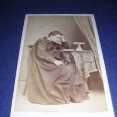 Fotografía antigua: GERONA CARTE DE VISITE FOTOGRAFIA DE JOAQUIN MASAGUER ,CALLE DE LAS DONAS 9 -10,5X6,5 CM. . Lote 34459585