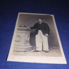 Fotografía antigua: CARTE DE VISITE - 10,5X6,5 CM. . Lote 34472325