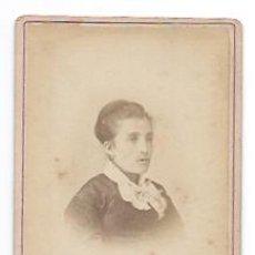 Fotografía antigua: CARTE DE VISITE. FOTÓGRAFO N. NOBAS, BARCELONA. RETRATO MUJER. SIGLO XIX. . Lote 34630884