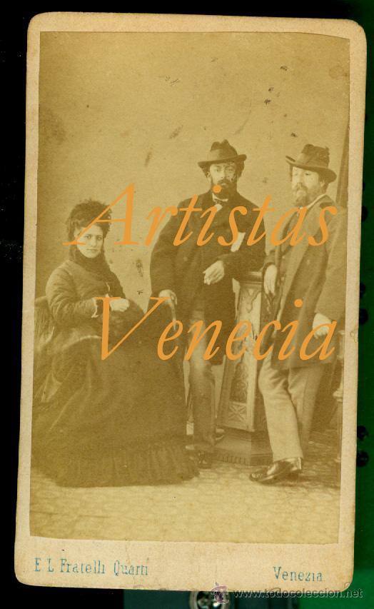 ARTISTAS - VENECIA 1870 (Fotografía Antigua - Cartes de Visite)