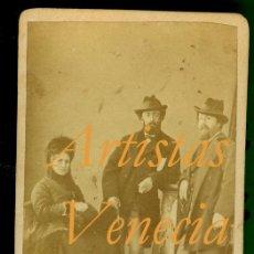 Fotografía antigua: ARTISTAS - VENECIA 1870. Lote 34744328