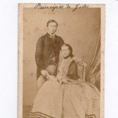 Fotografía antigua: LOS PRINCIPES DE GALES, FOTO: DERON, BRUXELLES, 1860'S. . Lote 35008439