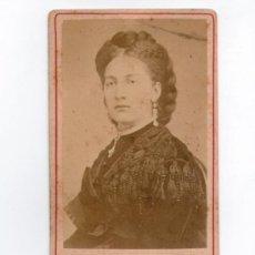 Fotografía antigua: HERZOGIN DE AOSTA, MUJER DE AMADEO I. SIN DATOS DEL FOTÓGRAFO. 1860'S. Lote 35008482