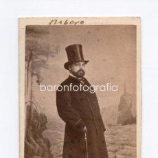 Fotografía antigua: NICOLÁS MARÍA RIVERO (1814 -1878), POLÍTICO ESPAÑOL, FOTO: LAURENT, MADRID. 1860'S.. Lote 35068096