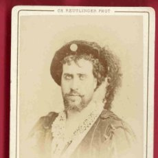 Fotografía antigua: GABRIEL FAURÉ - CARTE DE VISITE CDV - FOTOGRAFÍA SIGLO XIX - REUTLINGER FOTÓGRAFO - MÚSICA. Lote 36066587