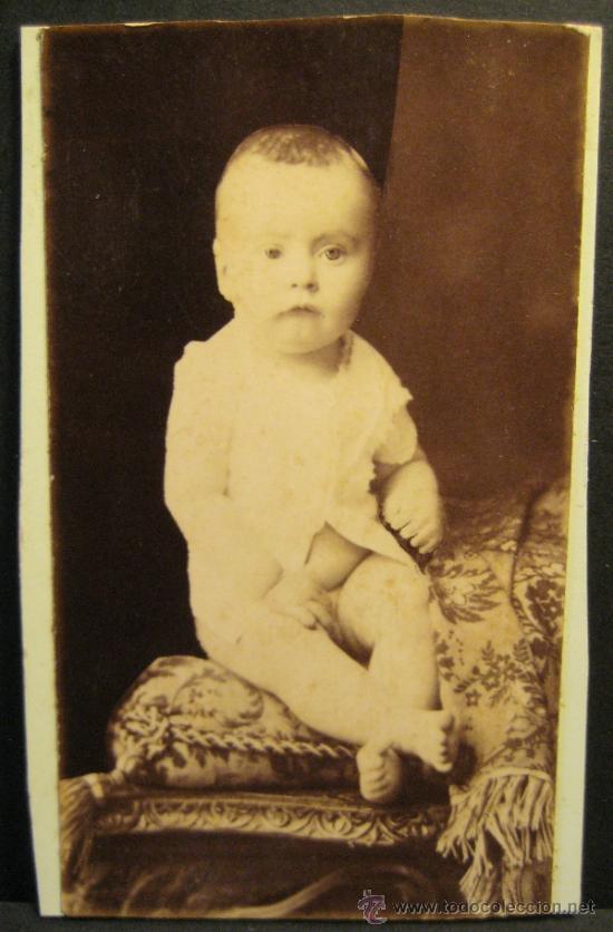 Fotografía antigua: 6 C.V. RETRATOS INFANTILES. SIGLO XIX. FOTOGRAFO NAPOLEON. BARCELONA - Foto 2 - 36784658