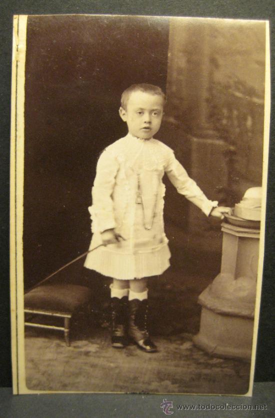 Fotografía antigua: 6 C.V. RETRATOS INFANTILES. SIGLO XIX. FOTOGRAFO NAPOLEON. BARCELONA - Foto 3 - 36784658