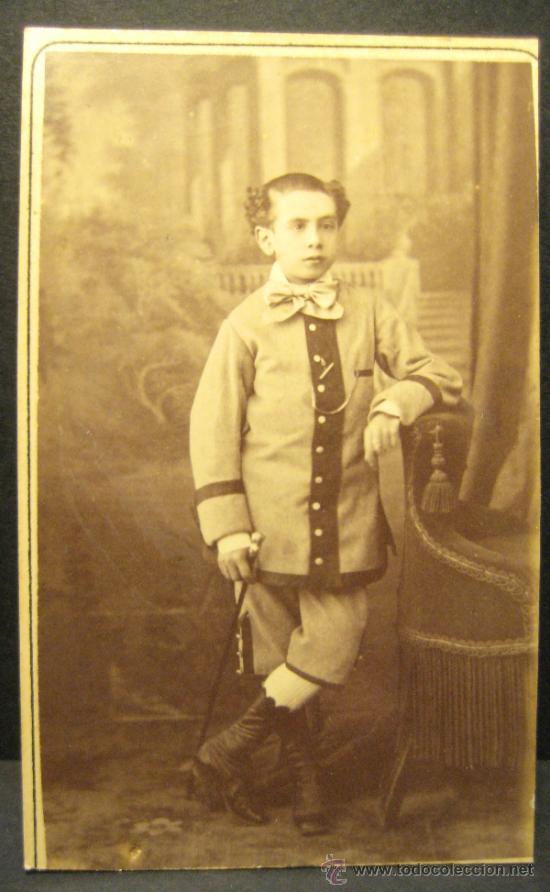 Fotografía antigua: 6 C.V. RETRATOS INFANTILES. SIGLO XIX. FOTOGRAFO NAPOLEON. BARCELONA - Foto 4 - 36784658