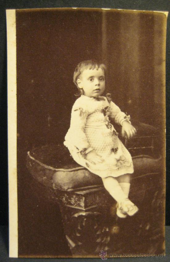 Fotografía antigua: 6 C.V. RETRATOS INFANTILES. SIGLO XIX. FOTOGRAFO NAPOLEON. BARCELONA - Foto 5 - 36784658