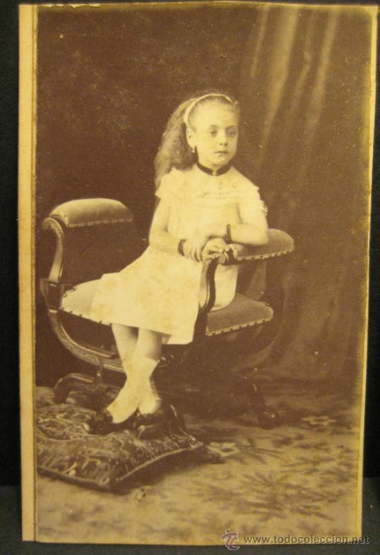 Fotografía antigua: 6 C.V. RETRATOS INFANTILES. SIGLO XIX. FOTOGRAFO NAPOLEON. BARCELONA - Foto 6 - 36784658