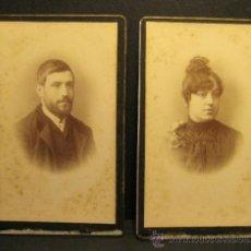 Photographie ancienne: 2 C.V. RETRATOS. SIGLO XIX. FOTOGRAFO NAPOLEON, SIGLO XIX. 10 X 6 CM. Lote 36784699