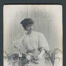 Fotografía antigua: MODERNISMO. JOVEN DAMA. F: NAPOLEON. ANT. Y EMILIO. BCN. C. 1895. Lote 37473785