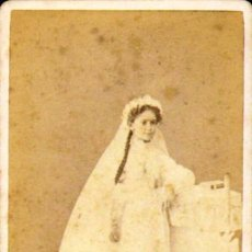Fotografía antigua: CARTE DE VISITE. FOTÓGRAFO G. LARAUZA (RETRATO DE JOSEFA GIL LLOPART...) .6 X 10 CM.CA.1860-70 . Lote 37684818