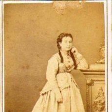 Fotografía antigua: CARTE DE VISITE. FOTÓGRAFO ANT. F. NAPOLEON (BARCELONA) .6 X 10 CM.CA.1860-70 . Lote 37684849