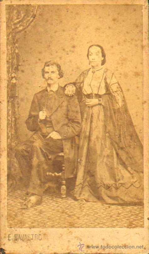 CARTE DE VISITE. FOTÓGRAFO E. BAVASTRO .6 X 10 CM.CA.1860-70 (Fotografía Antigua - Cartes de Visite)