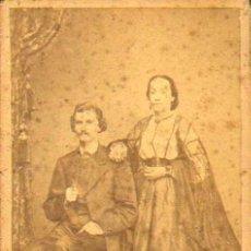 Fotografía antigua: CARTE DE VISITE. FOTÓGRAFO E. BAVASTRO .6 X 10 CM.CA.1860-70 . Lote 37685153