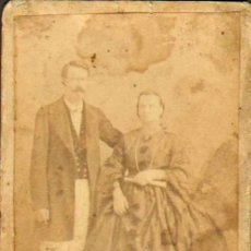 Fotografía antigua: CARTE DE VISITE. FOTÓGRAFO DESCONOCIDO .6 X 10 CM.CA.1860-70 . Lote 37685247
