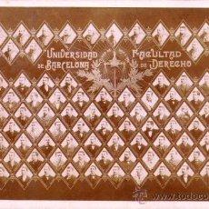 Fotografía antigua: CARTA ALBUM / CABINET. FOTÓGRAFO:MATORRODONA. TABLÓN FAC. DERECHO BARCELONA. 1894-95 11X15 CM. . Lote 37724399