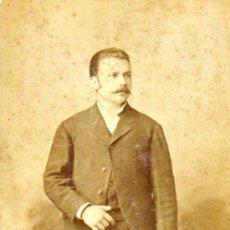 Fotografía antigua: CARTA ALBUM / CABINET. FOTÓGRAFO: J.A. COHNER (LA HABANA-CUBA).DANIEL SOLER. 1884 11 X 15 CM. . Lote 37728368