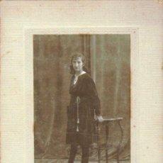 Fotografía antigua: CARTA ALBUM / CABINET. FOTÓGRAFO: AUDOUARD (BARCELONA). 16X10 CM. CA 1920. Lote 37735362