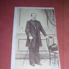 Fotografía antigua: CARTE DE VISITE - PERSONAJE FOTOGRAFO FRANCISCO BENITES ALICANTE - 11,5X6,5 CM.. Lote 37804866