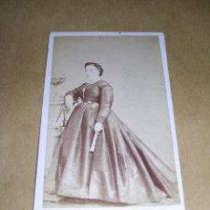 Fotografía antigua: CARTE DE VISITE - GERONA - FOTOGRAFIA DE JOAQUIN MASAGUER , 10,5X6,5 CM. . Lote 37884144