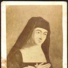 Fotografía antigua: FOTO CARTE DE VISITE B. MARGUERITE-MARIE ALACOQUE.FOT. DESCONOCIDO. CA. 1870 . Lote 37949901
