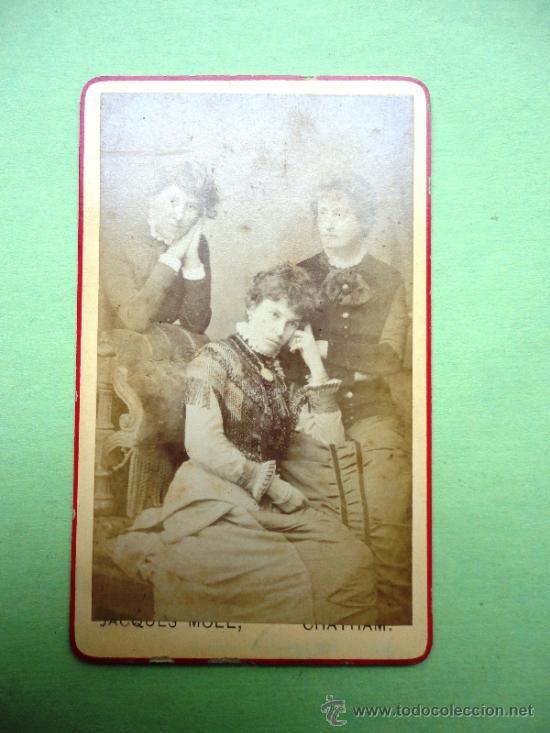 FOTOGRAFÍA ANTIGUA SOBRE CARTÓN. JACQUES MOLL. CHATHAM (10,5 X 6,5 CM) (Fotografía Antigua - Cartes de Visite)