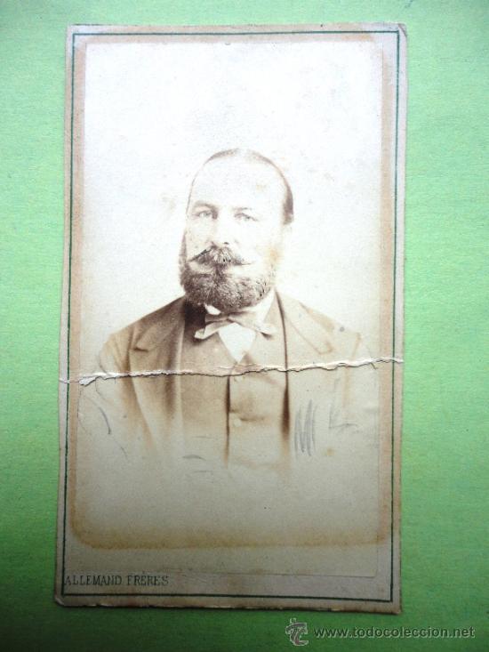 FOTOGRAFÍA ANTIGUA SOBRE CARTÓN. ALLEMAND FRERES. MARSEILLE (10,5 X 6,5 CM) (Fotografía Antigua - Cartes de Visite)