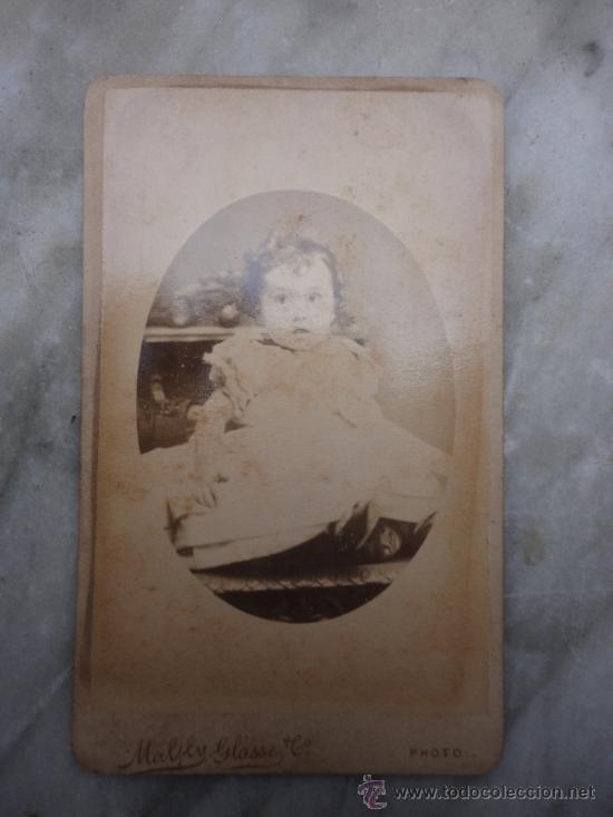 FOTOGRAFÍA ANTIGUA SOBRE CARTÓN. NIÑA. GLASSE (10,5 X 6,5 CM) (Fotografía Antigua - Cartes de Visite)