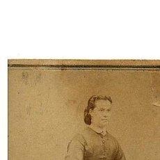 Fotografía antigua: CDV DE FOTOGRAFIA DE MR. HOSTENC. BARCELONA. ROSA VALLÉS. 1860-1870. Lote 53465210