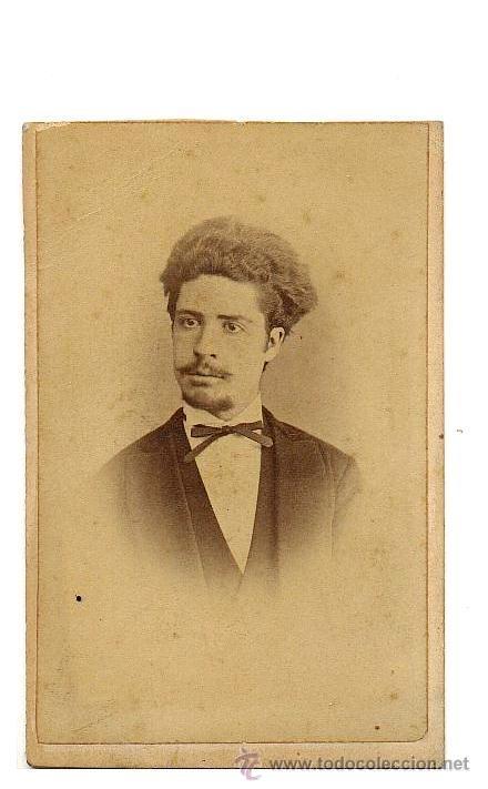 CDV FOTOGRAFIA DE ANTONIO RODAMILANS. BARCELONA. CABALLERO. 1860-1870 (Fotografía Antigua - Cartes de Visite)