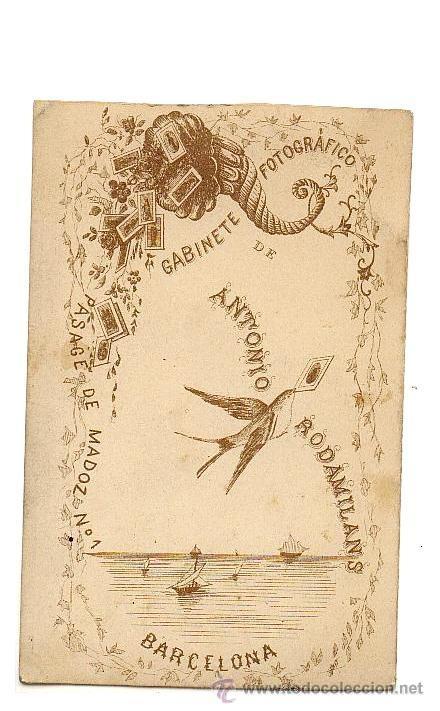 Fotografía antigua: CDV FOTOGRAFIA DE ANTONIO RODAMILANS. BARCELONA. CABALLERO. 1860-1870 - Foto 2 - 38513389