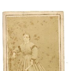 Fotografía antigua: CDV FOTÓGRAFO DEL LICEO. BARCELONA. ANGELINA BARRERA. 1860-1870 . Lote 38513662