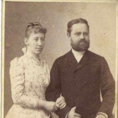 Fotografía antigua: CDV. MATRIMONIO ALEMÁN. E.BIEBER. BERLÍN.. Lote 39765511