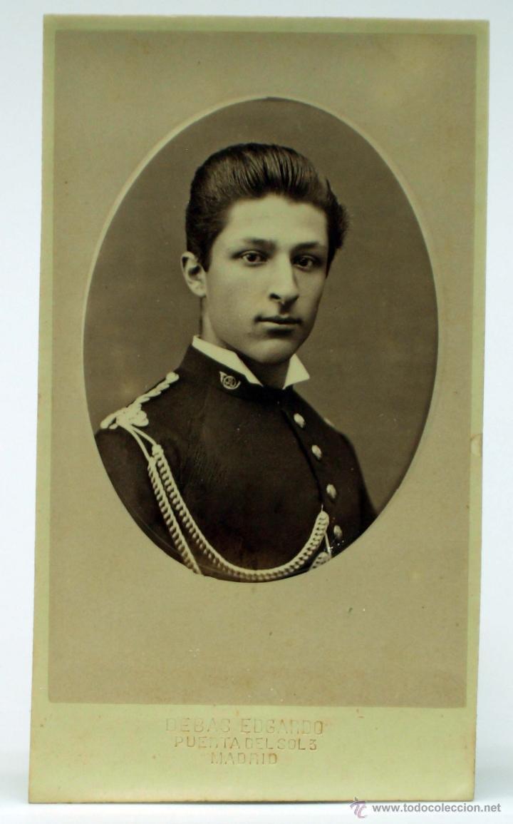 Fotografia Carte Visite Soldado Uniforme Edgardo Debas Madrid Hacia 1880 S XIX