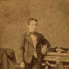 Fotografía antigua: ANTONIO GRACIA. NIÑO. VALENCIA. C. 1875. Lote 39906275
