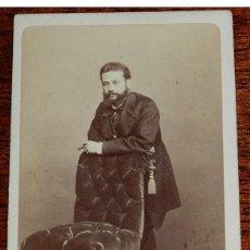 Fotografía antigua: ANTIGUA FOTOGRAFIA ALBUMINA TIPO CDV, FOTO J. LAURENT, MADRID, MIDE 10,5 X 6,2 CMS.. Lote 38287582