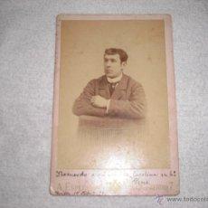Fotografía antigua: FOTO CABALLERO A. ESPLUGAS 1891. Lote 41134769