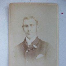 Fotografía antigua: CDV DE CABALLERO , SIGLO XIX . FOT.: BEALES , SPALDING.. Lote 41562461